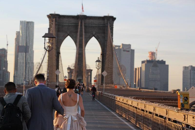 ブルックリンブリッジ 花嫁