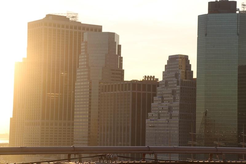 ブルックリンブリッジ 夕陽