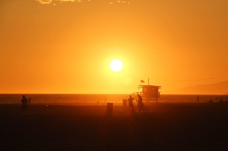 サンタモニカの夕日 絶景