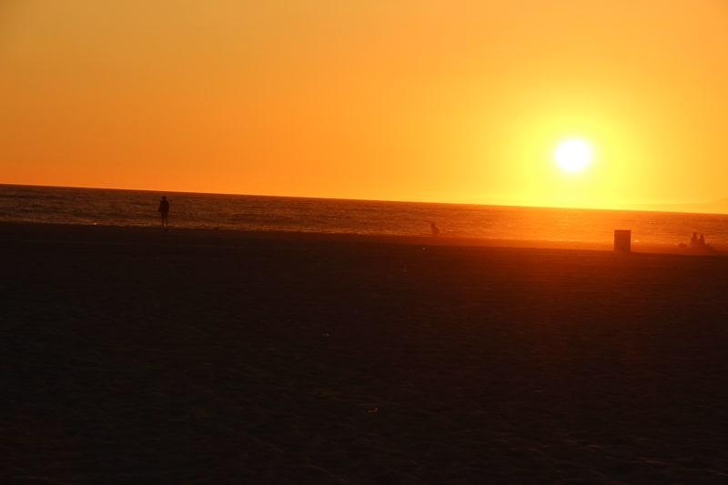 サンタモニカの夕日 きれい